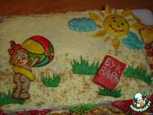 А теперь можно украшать торт.