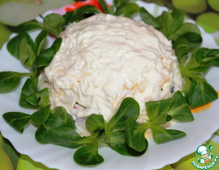 Рецепт: Салат Весенняя поляна