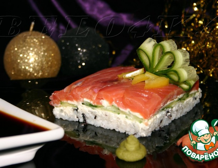 Рецепт: Суши-торт