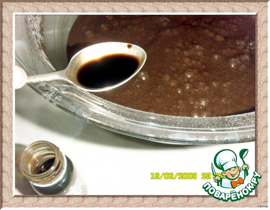 Шоколадный  Брауниз с творогом и  кремом