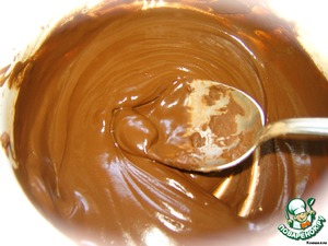 First of all mix the cocoa with 50 ml. of warm water and heated in a water bath.