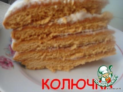 Торт Горячий медовик