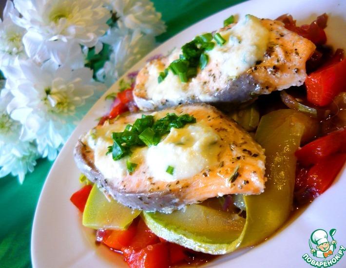 Рецепт: Запеченая рыба с ореховым соусом