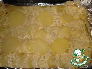 Put in oven and cook for 20-30 minutes(orientirueshsya on your oven)  Here we are out of the oven)