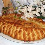 Постный пирог с яблоками и грецкими орехами