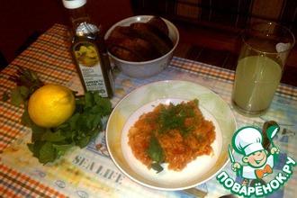 Рецепт: Тушеная капуста с рисом по-гречески Лаханоризо