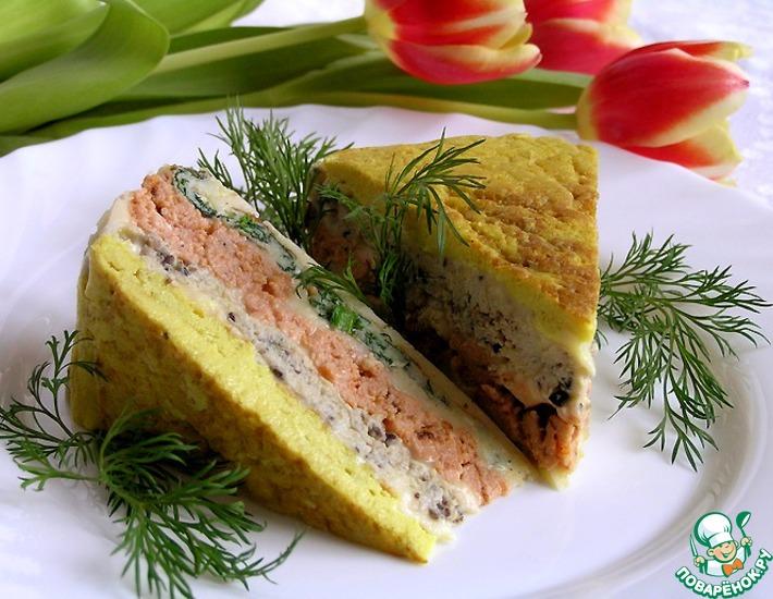 Рецепт: Пирог из четырех омлетов от Жиля Анженье