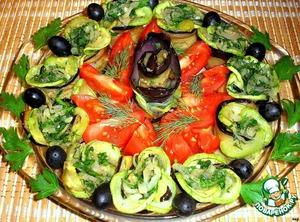 Выложить на тарелку « цветком», украсить веточкой петрушки и укропа.   Закуска готова! Зовите гостей!