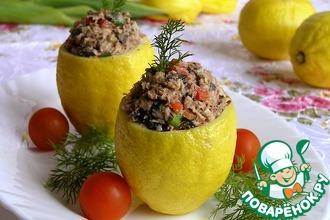 Рецепт: Лимоны с салатом из тунца