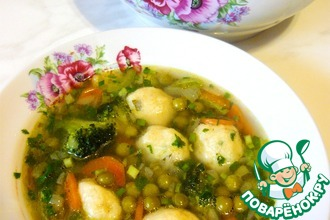 Рецепт: Суп с картофельными клецками и щавелем