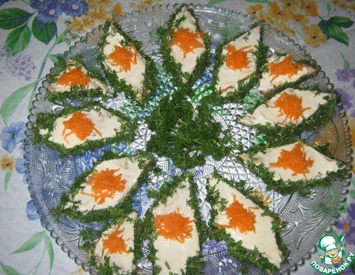 Рецепт: Закусочные пирожныеК празднику