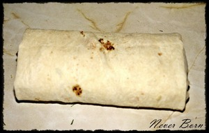 Stuffing wrap it up as follows: close the top and bottom, and then wrap completely in a pita.
