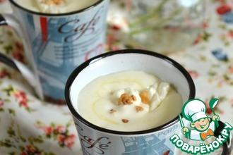 Рецепт: Горячий напиток из белого шоколада и орехов