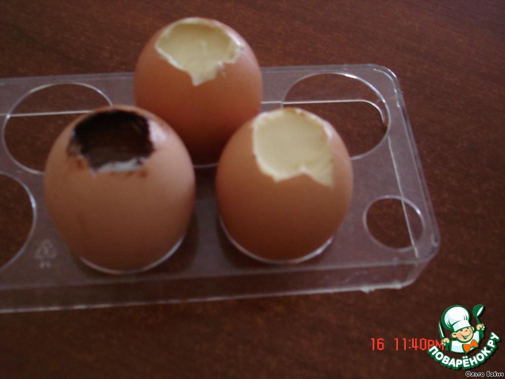 Десерт Шоколадные яйца