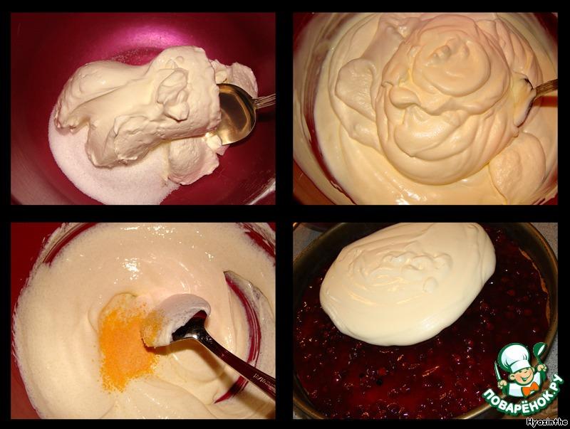 Торт-пирог с брусникой