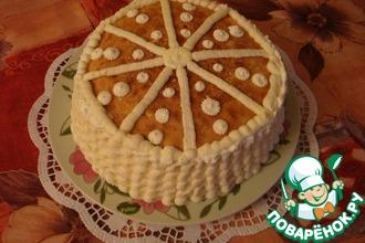 Рецепт: Блинный торт со сметанным кремом