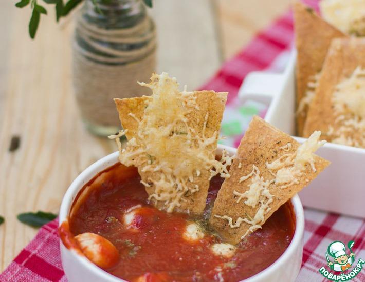 Рецепт: Здоровые чипсы с домашним соусом