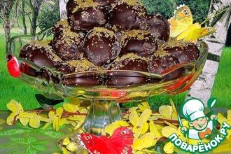 Рецепт: Конфеты Шоколадные абрикосы с марципаном