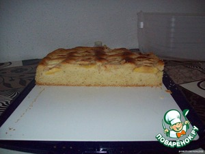 A cake is extremely airy, delicious.  Enjoy your tea!