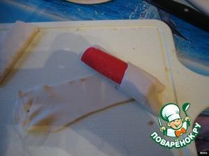Заворачиваем палочку в тесто