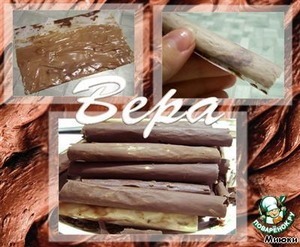 Chocolate straws:  Cut the parchment into rectangular pieces.  Melt the chocolate, spread it over the paper.  Roll the paper into a tube, tuck the seam side down.  Put into the refrigerator until fully cured.  Gently remove the paper.