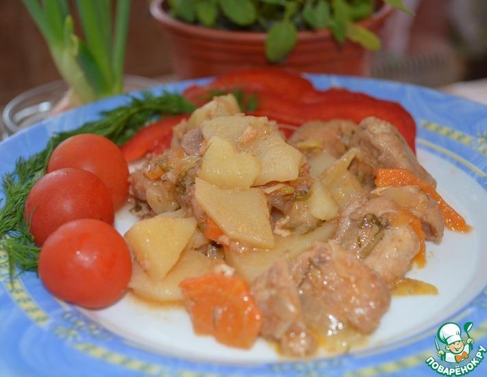 Рагу из кролика в белом вине – кулинарный рецепт