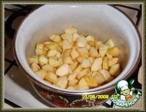 add apples and simmer on medium heat for about 10 minutes.
