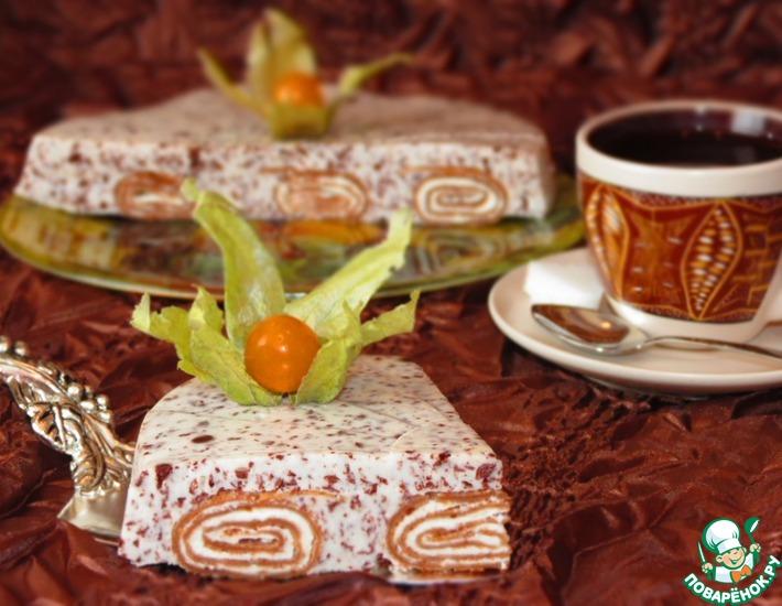 Рецепт: Шоколадные блины в нежном суфле