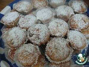 To vinati of metal. shape and allow to cool.  Sprinkle with powdered sugar.  Bon appetit!