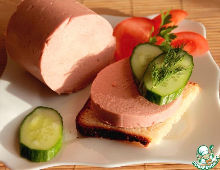 Рецепт: Колбаса постная без мяса