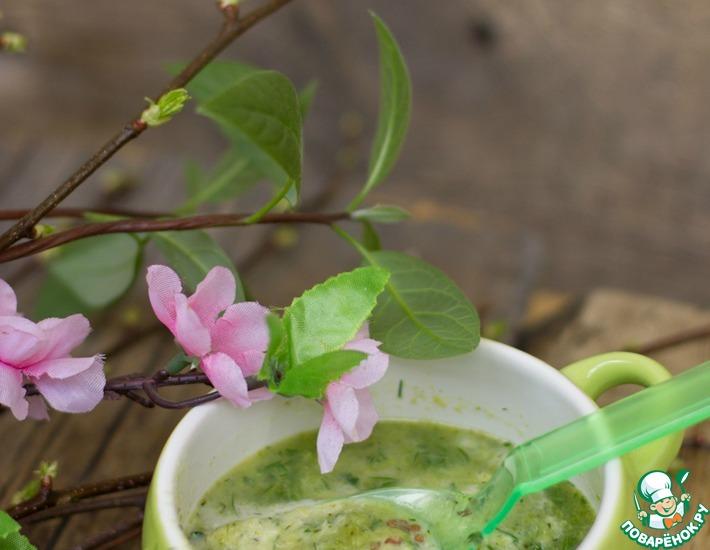 Рецепт: Весенний зеленый суп Грин суп