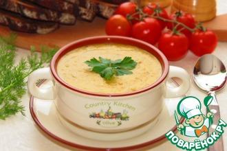 Рецепт: Турецкий суп из чечевицы с грибами