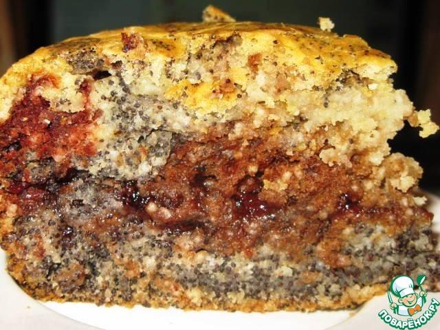 Постный маково-шоколадный пирог