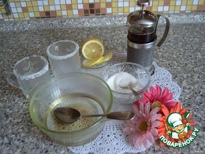 Заварим крепкий чай, пока он заваривается, разведем в стакане кипятка 6 чайных ложек сахара (по 3 ложки на порцию)