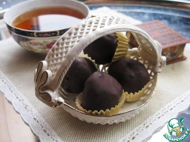 Постные шоколадные трюфели