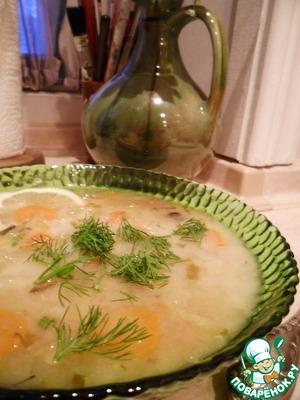 Рецепт Щи из квашенной капусты с сушеными грибами