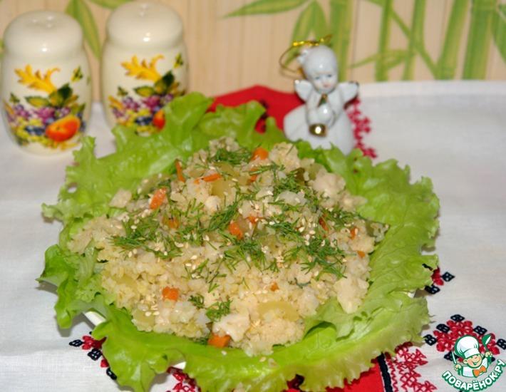 Рецепт: Салат из маринованных овощей с булгуром