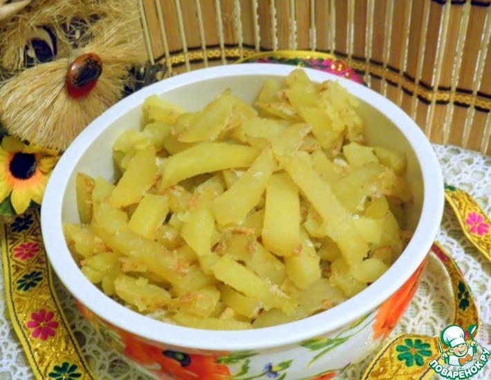 Рецепт: Картофель а-ля фри без масла