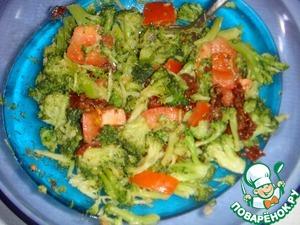Салат с брокколи и вялеными помидорами – кулинарный рецепт