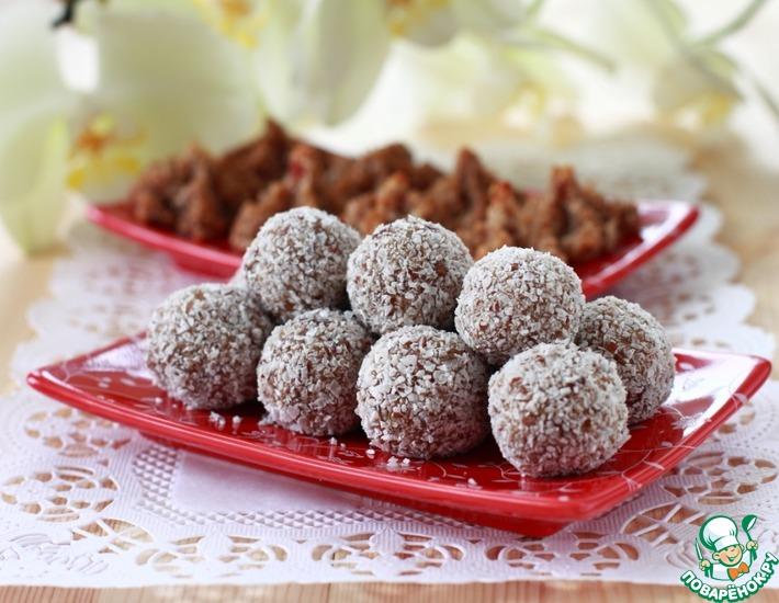 Рецепт: Фруктово-кокосовые конфеты и печенье