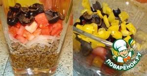 "Салат - слоенка ""Средиземноморье"" – кулинарный рецепт"