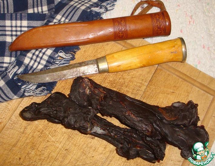 Рецепт: Вяленая оленина (сердце) по-лапландски