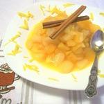 Яблочно-грушевое компоте с апельсинами