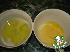 The yolk separated from the protein.