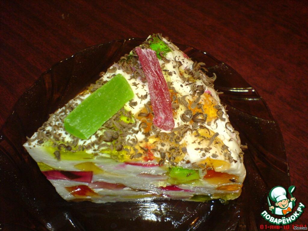 """Желейный торт """"Мозайка"""""""