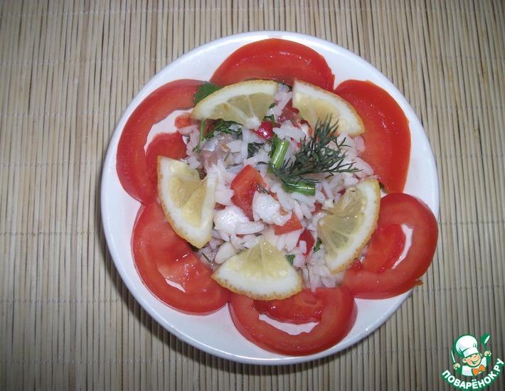 Рецепт: Рыбный салат по-индийски
