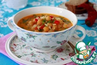 Рецепт: Острый кокосовый суп с нутом, рисом и карри
