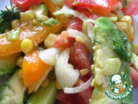 Салат   с   авокадо    в   лаваше ингредиенты