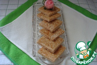 Рецепт: Медовые козинаки из кунжута