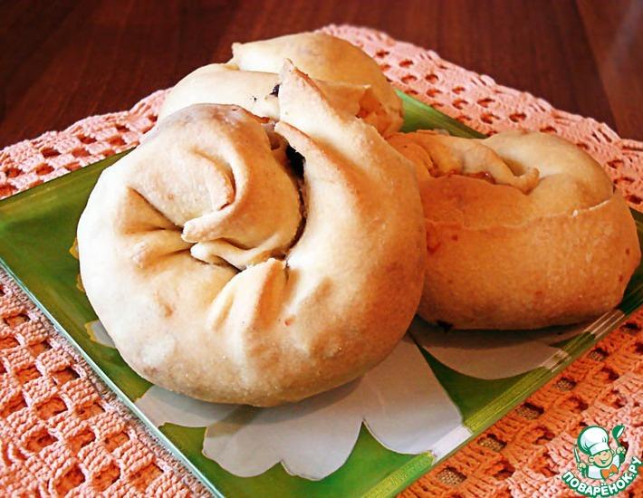 Рецепт: Мигнолата с луком, маслинами и колбасками